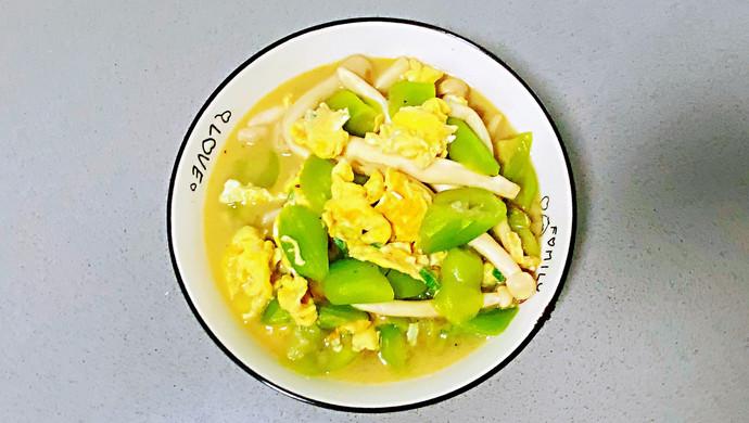【孕妇食谱】菌菇鸡蛋烩丝瓜,清淡又鲜香,简单却营养~