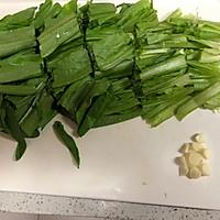 豆豉鲮鱼油麦菜———十分钟快手菜的做法图解2