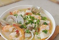 鲜虾海贝炖豆腐的做法