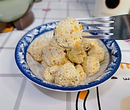 """#美食说出""""新年好""""#香菇胡萝卜鸡肉丸的做法"""