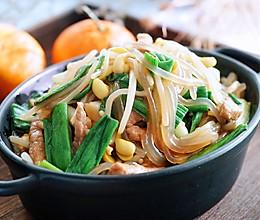 豆芽菜小炒肉的做法