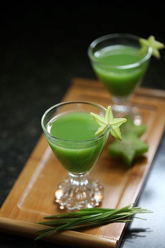 小麦草杨桃汁的做法