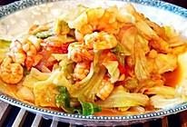 杂炒白菜虾仁的做法