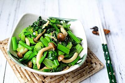 蚝油蟹味菇炒青菜