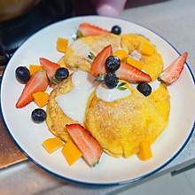 #美食视频挑战赛#简单美味舒芙蕾松饼下午茶