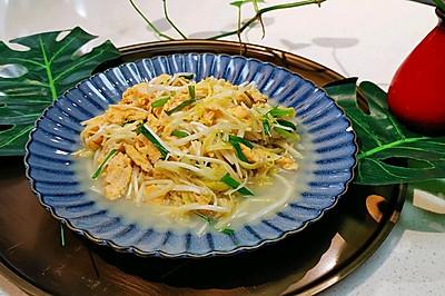 【金针菇韭黄炒蛋】营养搭配-蜜桃爱营养师私厨