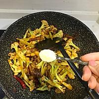 五花肉干煸有机花菜-在家做出饭店的味道#一机多能 一席饪选#的做法图解14