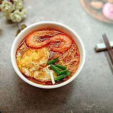 鲜虾番茄煎蛋面
