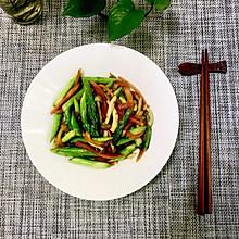 清炒芦笋蟹味菇