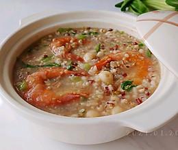 虾干油姜杂豆粥