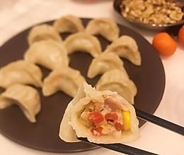 早餐店玉米胡萝卜烫面蒸饺#人人能开小吃店#附烫面和调馅儿方法的做法