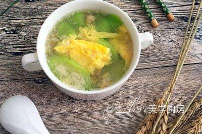 丝瓜肉末蛋汤
