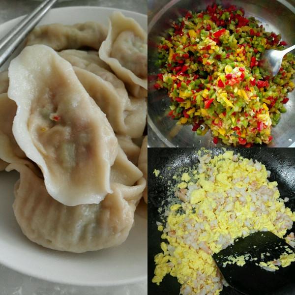青椒彩椒肉馅饺子的做法
