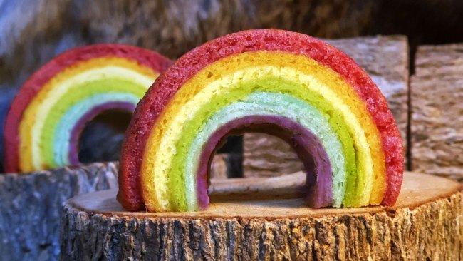 彩虹年輪蛋糕的做法