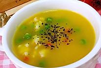 南瓜海鲜浓汤的做法