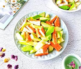 #一道菜表白豆果美食#西葫芦炒蟹棒的做法