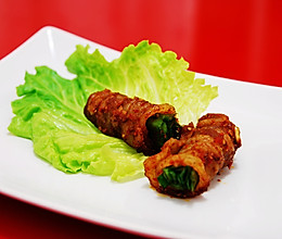 烤韭菜五花肉卷的做法