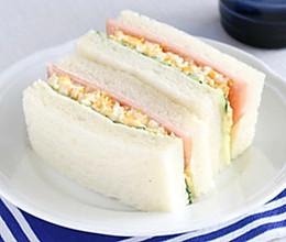 不输便利店微波炉制作快手鸡蛋三明治,营养健康早餐,省时省力!的做法