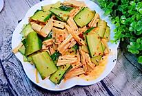 黄瓜凉拌腐竹的做法