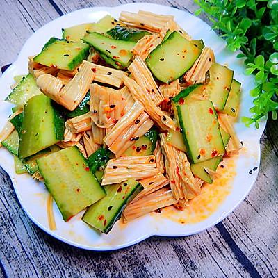 黄瓜凉拌腐竹