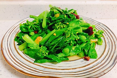 清炒油菜苔