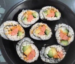 家庭寿司卷,孩子不爱吃饭的可以这么做的做法