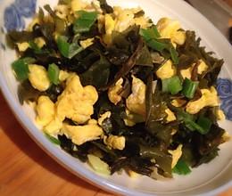 海石花炒鸡蛋的做法