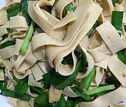 炒豆腐皮的做法