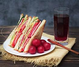 营养早餐—火腿三明治的做法