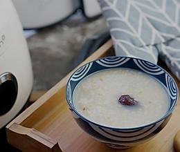 桂花双米红枣粥的做法