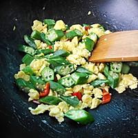 秋葵炒鸡蛋的做法图解7