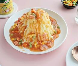 #下饭红烧菜#宝宝爱吃的酸甜火山土豆泥的做法