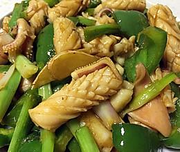 姜葱豉汁炒干鱿的做法