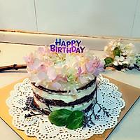 鲜花裸蛋糕(4寸)