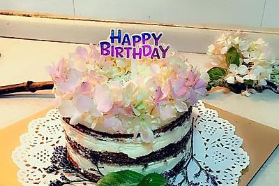 鮮花裸蛋糕(4寸)