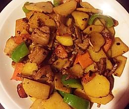 土豆回锅肉的做法