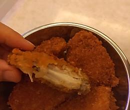 面包糠炸鸡翅。的做法