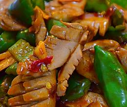 青椒炒腰花的做法