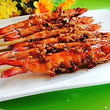 #全电厨王料理挑战赛热力开战!#电饼铛版蒜香烤大虾