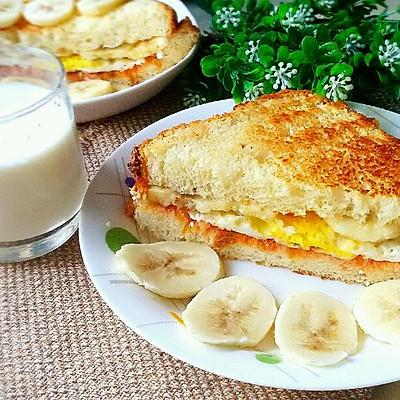 快手早餐 - 香蕉三明治