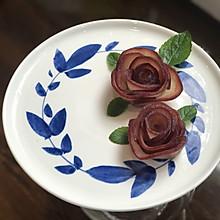 紅酒梨玫瑰花