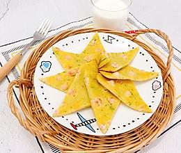 黄瓜鲜虾蛋饼的做法