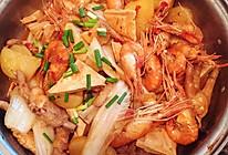 鸡脚明虾煲的做法