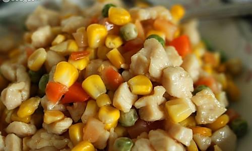 玉米青豆鸡丁的做法