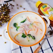 牛奶蔬菜瘦肉粥#太太乐鲜鸡汁玩转健康快手菜#