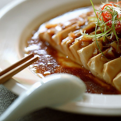 鲜贝蒸豆腐