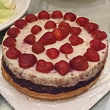 紫薯山药零奶油生日蛋糕