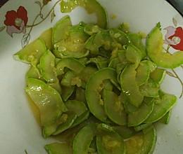 素炒角瓜的做法