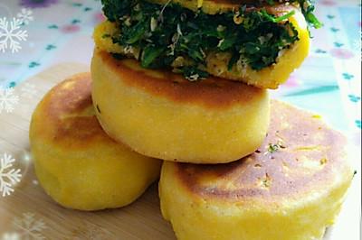 减肥期主食~野菜贴饼子~超详细做法