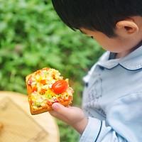 鲜虾培根吐司披萨的做法图解6